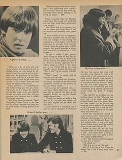 <cite>Teen Screen</cite> (August 1967), Will Davy Be Drafted?, Page 21