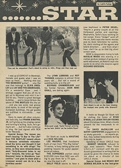 <cite>Teen World</cite> (August 1967), Star Light… Star Bright, Page 14