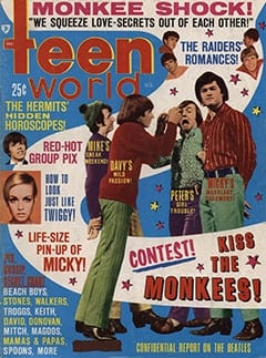 <cite>Teen World</cite> (August 1967) cover