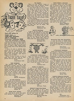 <cite>Tiger Beat</cite> (August 1967), Tiger Talk, Page 06