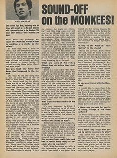 <cite>Tiger Beat</cite> (August 1967), Sound-Off on The Monkees, Page 48