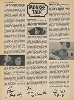 <cite>Tiger Beat</cite> (August 1967), Monkee Talk, Page 56
