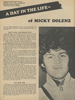 <cite>16 Spec</cite> (Fall 1967), A Day in the Life of Micky Dolenz, Page 12