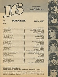 <cite>16</cite> (September 1967) table of contents