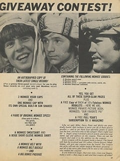 <cite>16</cite> (September 1967), Monkees&rsquo; Grandest Giveaway Contest, Page 49