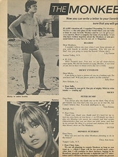 <cite>16</cite> (September 1967), The Monkee-Mailbox, Page 62