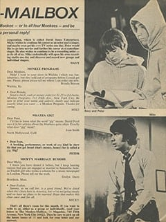 <cite>16</cite> (September 1967), The Monkee-Mailbox, Page 63