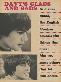 <cite>Fave</cite> (September 1967), Davy's Glads and Sads, Page 14
