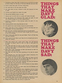 <cite>Fave</cite> (September 1967), Davy's Glads and Sads, Page 15
