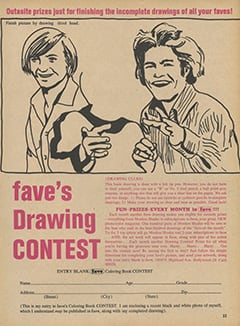 <cite>Fave</cite> (September 1967), Fave's Drawing Contest, Page 33