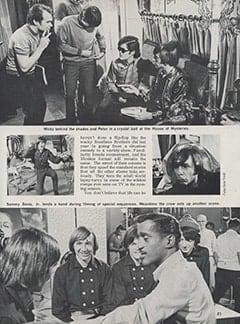 <cite>Hullabaloo</cite> (September 1967), Top Secret: Sneak Prevue of The Monkees&rsquo; Ten Best TV Romps for the Coming Season, Page 21