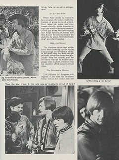 <cite>Hullabaloo</cite> (September 1967), Top Secret: Sneak Prevue of The Monkees&rsquo; Ten Best TV Romps for the Coming Season, Page 23