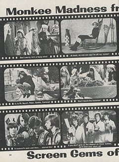 <cite>Hullabaloo</cite> (September 1967), Monkee Madness from Screen Gems, Page 30