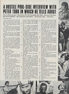 <cite>Hullabaloo</cite> (September 1967), A Hostile Pool-side Interview with Peter Tork, Page 51