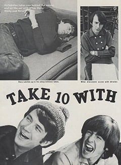 <cite>Hullabaloo</cite> (September 1967), Take 10 with The Monkees, Page 52