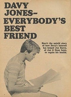 <cite>Monkee Spectacular</cite> (September 1967), Davy Jones: Everybody's Best Friend, Page 04