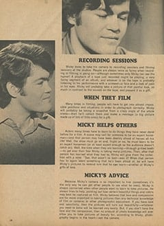 <cite>Monkee Spectacular</cite> (September 1967), What Micky Sees with His Camera, Page 14