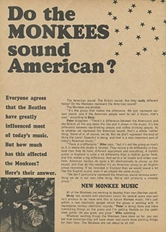 <cite>Monkee Spectacular</cite> (September 1967), Do The Monkees Sound American?, Page 16