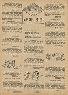 <cite>Monkee Spectacular</cite> (September 1967), Monkee Letters, Page 18