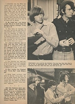 <cite>Monkee Spectacular</cite> (September 1967), Monkee Rumors, Page 25