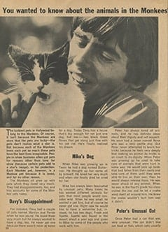<cite>Monkee Spectacular</cite> (September 1967), Monkee Pets, Page 30