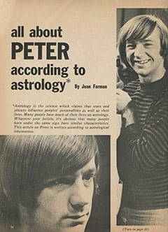<cite>Monkee Spectacular</cite> (September 1967), All About Peter According to Astrology, Page 36