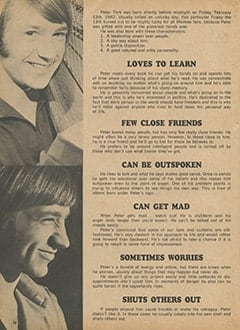 <cite>Monkee Spectacular</cite> (September 1967), All About Peter According to Astrology, Page 38