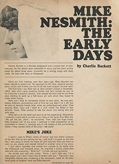 <cite>Monkee Spectacular</cite> (September 1967), Mike Nesmith: The Early Days, Page 41