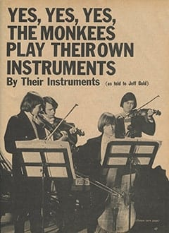 <cite>Monkee Spectacular</cite> (September 1967), Yes, Yes, Yes, The Monkees Play Their Own Instruments, Page 47