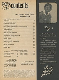 <cite>Tiger Beat</cite> (September 1967) table of contents
