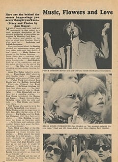 <cite>Tiger Beat</cite> (September 1967), Music, Flowers and Love: The Monterey Pop Festival, Page 10