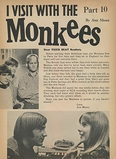 <cite>Tiger Beat</cite> (September 1967), I Visit with The Monkees (Part 10), Page 20