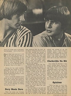 <cite>Tiger Beat</cite> (September 1967), Dave Clark&rsquo;s Day with The Monkees, Page 31