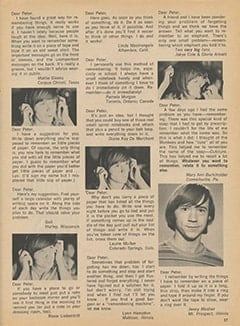 <cite>Tiger Beat</cite> (September 1967), Memory Clues for Peter, Page 37