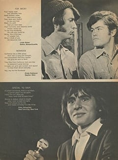 <cite>Tiger Beat</cite> (September 1967), Marvy Monkee Poems, Page 41
