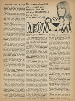 <cite>Tiger Beat</cite> (September 1967), Meow&hellip;w!, Page 49
