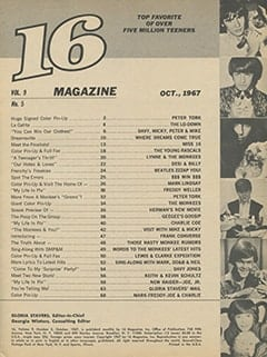 <cite>16</cite> (October 1967) table of contents