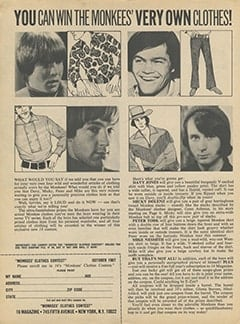 <cite>16</cite> (October 1967), You Can Win The Monkees&rsquo; Very Own Clothes, Page 08