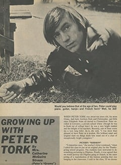 <cite>16</cite> (October 1967), Growing up with Peter Tork, Page 32