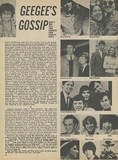 <cite>16</cite> (October 1967), Geegee's Gossip, Page 38