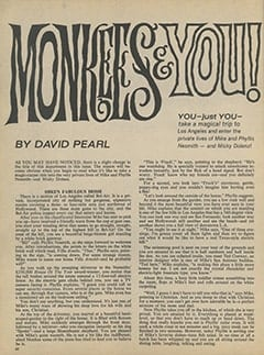 <cite>16</cite> (October 1967), Monkees & You, Page 42