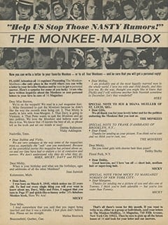 <cite>16</cite> (October 1967), The Monkee-Mailbox, Page 48