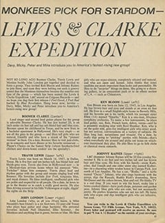 <cite>16</cite> (October 1967), Monkees Pick for Stardom&mdash;Lewis &amp; Clarke Expedition, Page 51