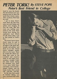 <cite>Flip</cite> (October 1967), My College Days with Peter Tork, Page 09