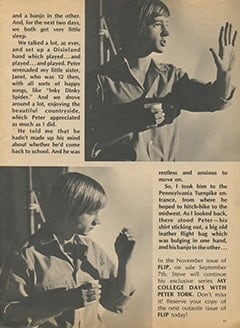 <cite>Flip</cite> (October 1967), My College Days with Peter Tork, Page 11