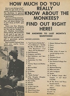 <cite>Flip</cite> (October 1967), How Much Do You Really Know About The Monkees?, Page 36