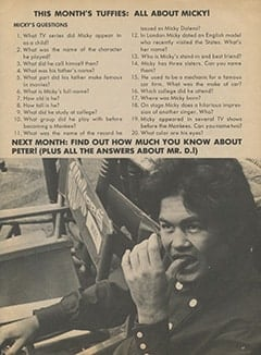 <cite>Flip</cite> (October 1967), How Much Do You Really Know About The Monkees?, Page 37