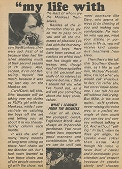 <cite>Flip</cite> (October 1967), My Life with The Monkees, Page 48
