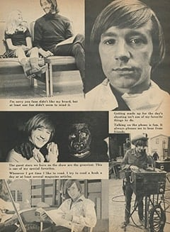 <cite>Monkee Spectacular</cite> (October 1967), Message from Peter, Page 33