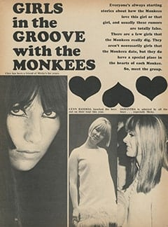 <cite>Monkee Spectacular</cite> (October 1967), Girls in the Groove with The Monkees, Page 36